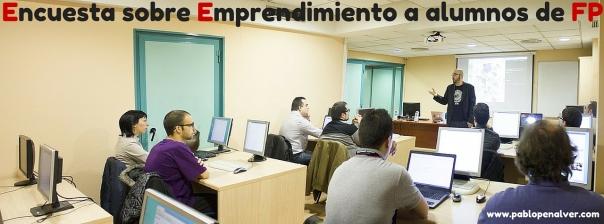 Encuesta sobre emprendimiento a alumnos de FP